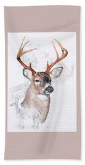White-tailed Deer Bath Towel by Barbara Keith