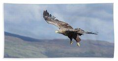 White-tailed Eagle On Mull Bath Towel