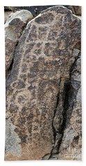 White Tank Petroglyphs #1 Hand Towel by Anne Rodkin