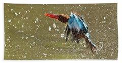 White-throated Kingfisher Bath Towel