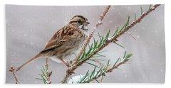 White Throated Sparrow Bath Towel