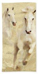 White Thunder Hand Towel by Melinda Hughes-Berland