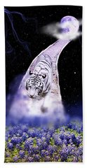 White Tiger Fantasy Bath Towel
