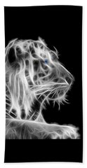 Hand Towel featuring the photograph White Tiger by Shane Bechler