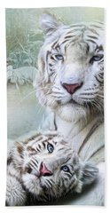White Tiger Bath Towel