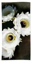 White Torch Blooms Hand Towel