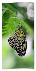 White Tree Nymph Butterfly 2 Bath Towel