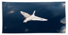 Hand Towel featuring the digital art White Vulcan B1 At Altitude by Gary Eason