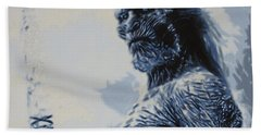 Hand Towel featuring the painting White Walker by Luis Ludzska