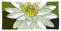 White Water Lily Bath Towel
