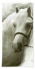White Welsh Pony Bath Towel