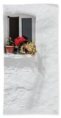 White Window Bath Towel
