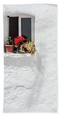 White Window Bath Towel