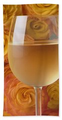 White Wine And Yellow Roses Bath Towel