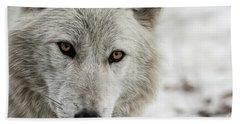 White Wolf II Bath Towel