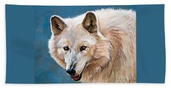 White Wolf Hand Towel