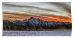 Whitehorse Sunset Panorama Hand Towel