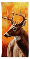 Whitetail Buck Portrait Hand Towel