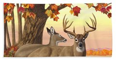 Whitetail Deer - Hilltop Retreat Hand Towel