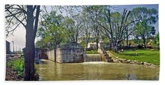 Whitewater Canal Metamora Indiana Bath Towel