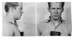 Whitey Bulger Mug Shot Hand Towel by Edward Fielding