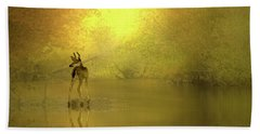 A Silent Autumn Morning Hand Towel by Diane Schuster