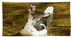 Who Me Wildlife Art By Kaylyn Franks Bath Towel