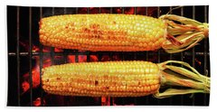 Whole Corn On Grill Hand Towel