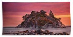 Whytecliff Island Sunset Bath Towel