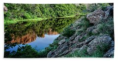 Hand Towel featuring the photograph Wichita Mountain River by Tamyra Ayles
