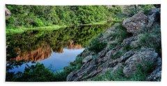 Wichita Mountain River Bath Towel by Tamyra Ayles