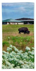 Wichita Mountain Wildlife Reserve Welcome Center Verticle Bath Towel by Tamyra Ayles