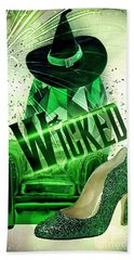 Hand Towel featuring the digital art Wicked by Mo T