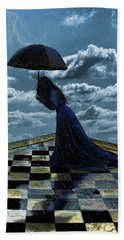 Widow In The Rain Hand Towel