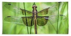 Widow Skimmer Dragonfly Bath Towel