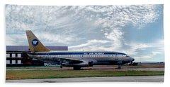 Wien Air Alaska Boeing 737, N4907 Hand Towel by Wernher Krutein