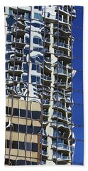 Hand Towel featuring the photograph Wiggly Balconies by Phyllis Denton