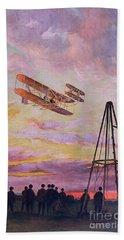 Wilbur Wright In Flight Bath Towel