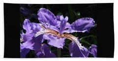 Wild About Iris Hand Towel by Brooks Garten Hauschild