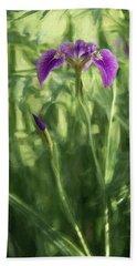 Wild Alaskan Iris II Bath Towel