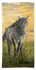 Hand Towel featuring the painting Wild And Free by Suzanne Theis