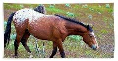 Wild Appaloosa Stallion Bath Towel