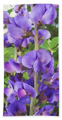 Wild Blue False Indigo Bath Towel