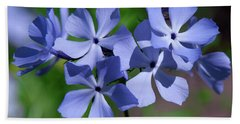Hand Towel featuring the photograph Wild Blue Phlox Dspf0386 by Gerry Gantt