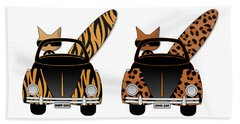Wild Cats Go Surfing Bath Towel