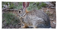 Wild Colorado Cottontail In The Brush Bath Towel
