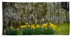 Hand Towel featuring the photograph Wild Daffodils At Coole Park by James Truett