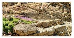Wild Flower Among The Rocks Asilomar State Marine Reserve Califo Hand Towel