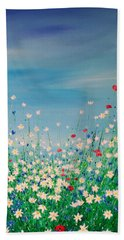 Wild Flower Meadow Bath Towel