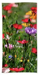 Wild Flower Meadow  Bath Towel
